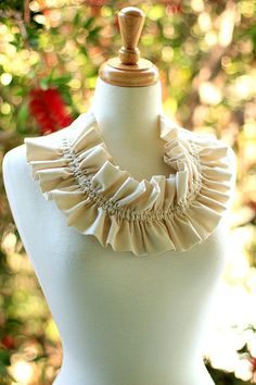 Victorian Fashion Collar - Ruffle Neckpiece by Mademoiselle Mermaid, $25.00