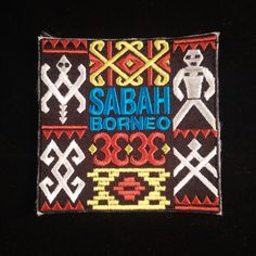 Sabah Borneo Traditional Design Patch