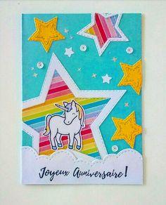 Carte anniversaire licorne - Scrapbook.com Diy Valentine Gifts For Boyfriend, Valentine Day Boxes, Boyfriend Gifts, Unicorn Birthday Cards, Unicorn Cards, Scrapbooking Layouts, Scrapbook Cards, Child Day, Kids Cards
