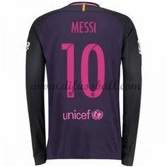 41f95006f Neues Barcelona 2016-17 Fussball Trikot Messi 10 Langarm Auswärtstrikot Shop  Messi 10, Cher