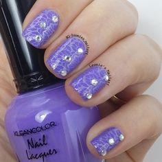 Violet Jewels - Leonie's Nailart