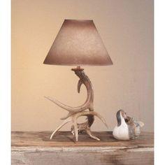 New The Aspen Table Desk Light Lamp 2 Whitetail Deer Antler Antlers Made USA | eBay