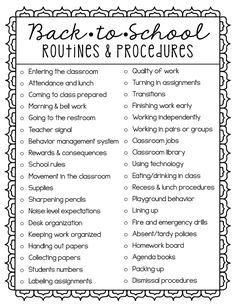 Back-to-School Routines & Procedures – Create.Share Back-to-School Routines & Procedures Upper Elementary Snapshots: Back-to-School Routines & Procedures 1st Day Of School, Beginning Of School, School Grades, School School, School Tips, Back To School Night, Middle School Teachers, School Stuff, School Ideas