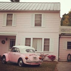 When i was little i always said i wanted a pink house with a pink car. All thats missing from that dream is a pink husband and dog :)