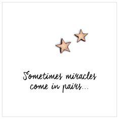 Gedicht geboorte tweeling 'Sometimes miracles come in pairs'