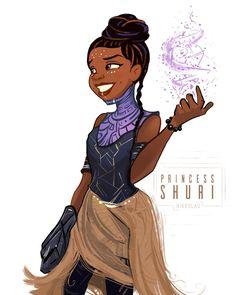 Tiana as Princess Shuri of Wakanda. Marvel Fan Art, Marvel Dc Comics, Marvel Heroes, Marvel Characters, Marvel Movies, Marvel Avengers, Shuri Black Panther, Black Panther Marvel, Marvel Women