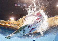 Juegos Olímpicos Londres 2012 - La española Mireia Belmonte comienza la carrera de los 800 metros estilo libre.