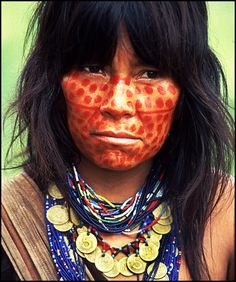 Ashaninka Tribesman, Amazon Rainforest, Brazil