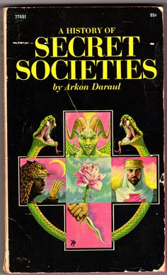 History Discover Pocket Books - A History of Secret Societies - Arkon Daraul Vintage Book Covers Vintage Books Book Cover Art Book Art Magick Book Witchcraft Books To Read My Books Occult Books