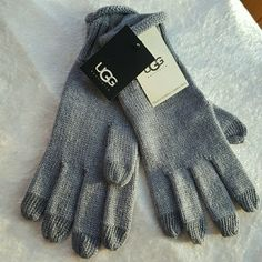 UGG Touchscreen Compatible Gloves Brand new with tags. Gray with shimmery silver. Really soft and cozy. Touchscreen compatible. UGG Accessories Gloves & Mittens