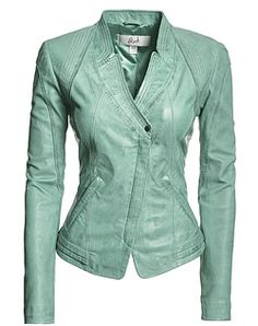 Adorable quilted elbow leather jacket for women | Closet Wishes ...
