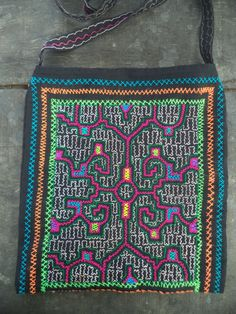 Shipibo Medicine Bag, Fully Hand embroidered Shipibo Bag,Shipibo Handbag, Shipibo Tapestry,Ayahuasca Ceremony, Shamanic Cloth, i2 by Shakruna on Etsy