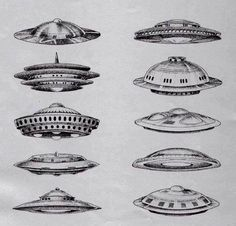 Drawn from various UFO sighting reports.