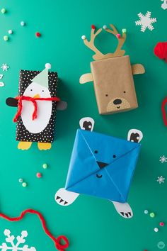 Want to make a present for a kid stand out? It's easy with our free downloads, some basic craft supplies, and these kids holiday gift wrap ideas.