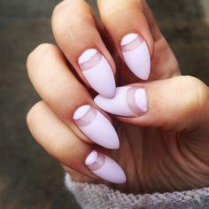My beautifuls nails #nails #transparent&matte #lilacnails #almondnails #perfectnails #matte @cinenustiucine