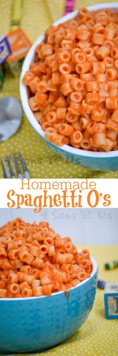 This version of Homemade Spaghetti O's is always a hit with the entire family, at lunch or dinner time. Pasta rings coated with a sweet homemade sauce, the kids will never guess it didn't come from a can.