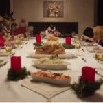 Shelter Dogs and Cats enacting Christmas dinner in this delightful and funny video.