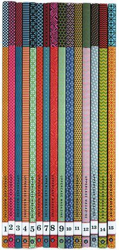 Uppercase Magazine spines