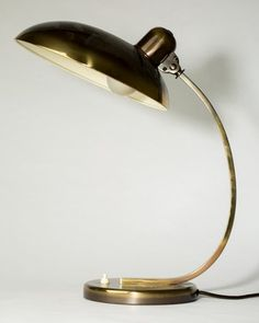 Vare: 4562909Tischleuchte / Schreibtischleuchte / Lampe Modell 6750 Präsident, Christian Dell, für Kaiser Idell, Deutschland 1950er Jahre, Messing