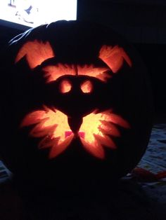 Schnauzer power pumpkin!