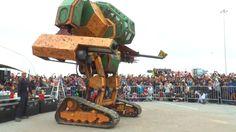 MegaBots - Mk II Mech Piloted Robot At Maker Faire 2015 [720p]