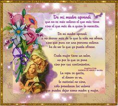 SUEÑOS DE AMOR Y MAGIA: De mi Madre Aprendí
