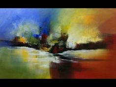 Painting on canvas - Abstract Marine - YouTube