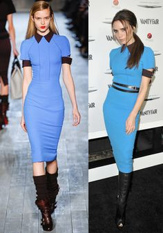 victoria beckham dresses | Victoria Beckham Wears Her Fall 2012 Collection...Three Times In One ...