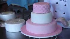 Como montar bolo de andares de pasta americana parte I_Bellbolos