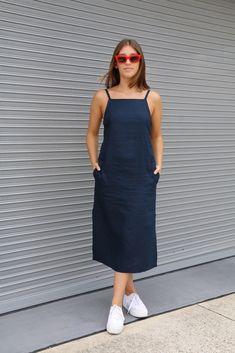 Claudia Dress Pattern - Women's style: Patterns of sustainability Linen Dress Pattern, Dress Sewing Patterns, Clothing Patterns, Pinafore Dress Pattern, Summer Dress Patterns, Skirt Patterns, Coat Patterns, Blouse Patterns, Sewing Clothes