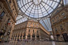 Skylight at the Galleria Photo by David Jessop -- National Geographic Your Shot A view of the inside of the 'Galleria Vittorio Emanuele II', in central Milan, Italy