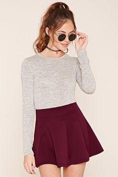 Scuba Knit Skater Skirt