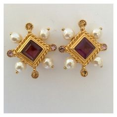 Christian Lacroix Vintage Earrings $195.00 USD by enchantedjewels on Polyvore featuring polyvore, fashion, style, vintage and clothing