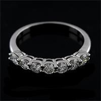White Gold Prong Set Diamond Half Way Wedding Ring 3mm $899.00