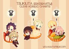 Tsukiuta (Six-Gravity) Clear Acrylic Charms. #tsukiuta #ツキウタ。#sixgravity