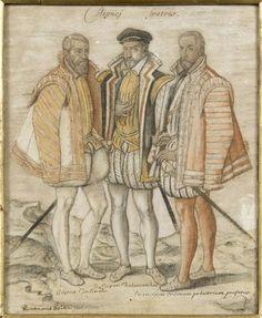 Les trois Coligny (Odet, Gaspard et François)