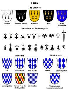 Heraldry furs..... the black ones look like bindis