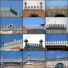 Ornamental Neo-Romanian Style Roof Ridge Crests: Photomontage & Slide Show | Historic Houses of Romania  uh-oh