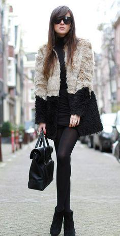 Garotas Modernas: Como usar casaco de pele fake no dia a dia