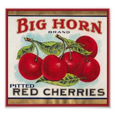 Vintage Crate Label Cherry Posters