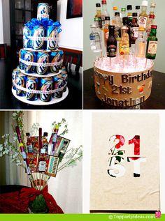 Birthday Decorations | ... Flower Vase by Girls Gone Food / 4. 21 st Birthday Card or Decoration