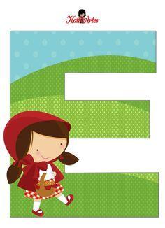 EUGENIA - KATIA ARTES - BLOG DE LETRAS PERSONALIZADAS E ALGUMAS COISINHAS: Chapeuzinho Vermelho Alfabeto