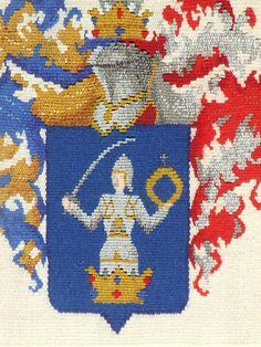 Blason détail 45 x 30 cm Tapisserie de haute lice