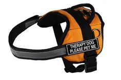 Dean  Tyler Works Therapy Dog Please Pet Me Pet Harness Small Fits Girth Size 25 to 34Inch OrangeBlack *** Read more reviews of the product by visiting the link on the image.Note:It is affiliate link to Amazon.