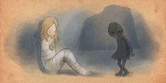 bimba mummia e bambina oscura