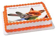 Zootopia 6 Edible Birthday Cake Topper