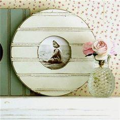 Cottage Frame by Obrien Schridde Designs. So cute in a vintage themed nursery! #cottagedecor #antique #nurserydecor