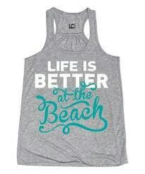 Look at this Athletic Heather 'Better at the Beach' Racerback Tank on today! Vinyl Shirts, Cool Shirts, Tee Shirts, Beach T Shirts, Summer Shirts, Beach Tanks, Vinyl Designs, Shirt Designs, Family Vacation Shirts