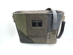 Large Tote Large Purse Recycled Purse Suit Coat by SewMuchStyle, $155.00