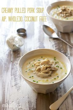 Creamy Pulled Pork Soup from http://meatified.com (AIP, Whole30, Paleo, Coconut Free)